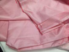 coupon de tissu  pure soie taffetas de soie  leger  rose  h couture  pk 3 m