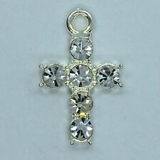 10 x Beautiful Diamante -diamonte-  cross for candle craft
