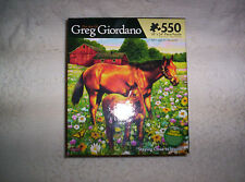 NEW 550 piece jigsaw puzzle The Art of Greg Giordano Staying Close to Mama Karmi