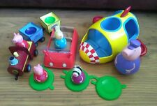 Peppa Weebles Play Set Pig treno e auto nave spaziale e figure