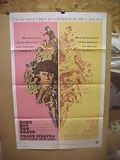 NONE BUT THE BRAVE, orig 1-sh / movie poster (Frank Sinatra, Tatsuya Mihashi)
