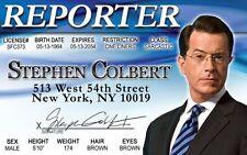 Stephen Cobert Reporter New York City novelty fun I.D. card Drivers License