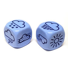Pack of 2 18mm Weather Chessex Dice - Pale Blue with Dark Blue Etches