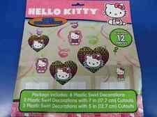 Hello Kitty Tween Sanrio Retro Animal Cat Kids Birthday Party Swirl Decorations