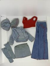 Barbie: Nice Vintage 1973 Best Buy #7818 Denim Outfit + Other Denim Pieces