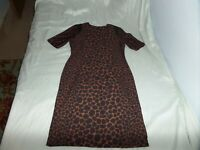 TAYLOR WOMEN'S  DRESS BLACK COPPER ANIMAL PRINT SIZE 10