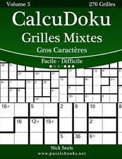 CalcuDoku: CalcuDoku Grilles Mixtes Gros Caractères - Facile à Difficile -...