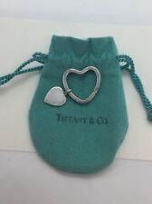 Sterling Silver Double Heart Keychain Tiffany & Co. Vintage Authentic