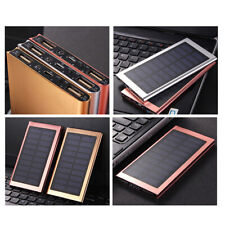 Solar Charger For Power Bank Case Kit Ultra Thin Portable Dual USB Battery