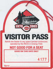 CINCINNATI REDS 2002 Stadium Visitor Pass