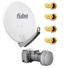 Fuba DAA 650 G SAT Anlage Set 65 cm Aluminium Grau DEK 217 Twin LNB HDTV 4K 3D