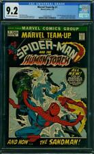 Marvel Team-Up #1 CGC 9.2 1972 Spider-Man Cover! Avengers! K12 318 cm clean