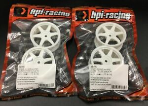 HPI 3835 TE37 WHEEL white 0mm OffSet/Fit 26mm Width 1/10 Touring Car Tires 4pcs