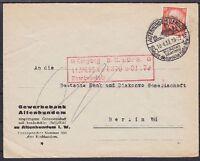 DR Mi Nr. 469 EF Banken Brief mit SST Althundem - Berlin 1933