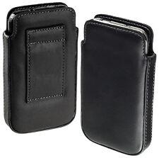 Leder Case Tasche Etui für LG P990 Optimus Speed Hülle schwarz black