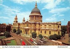 St Paul's Cathedral London View from the South East Busses Cars