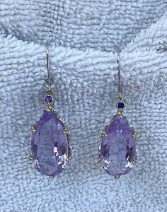 Gems En Vogue Rose de France Amethyst Pear Earrings