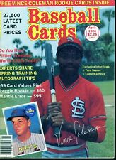Apr 1986 Baseball Cards Magazine (with 2 insert cards) - 2 Vince Coleman Rookies