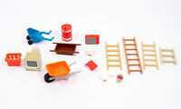 Playmobil Vintage Retro Job Lot BUNDLE of Accessories - Ladders TV Wheelbarrows