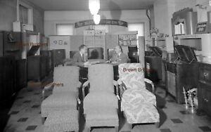 1940s NYC Radio Store RCA Victor PHILCO Furniture Film Photo Camera Negative BB