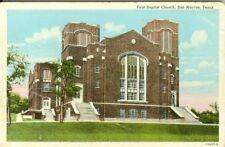 San Marcos TX The First Baptist Church 1945
