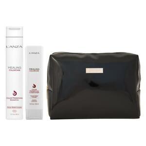 L'Anza Healing ColorCare Shampoo, Conditioner + KOSTENLOSE Kosmetiktasche