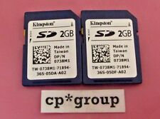 * LOT OF 2 * 738M1 - Dell Kingston vFlash 2GB SD Cards for PowerEdge iDRAC 6 & 7