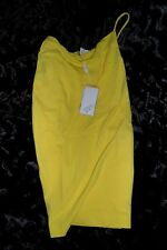 NWT VERSUS GIANNI VERSACE YELLOW ONE SHOULDER COCKTAIL EVENING DRESS ABITO 38