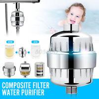 🇦🇺 15 Stage Shower Water Filter Cartridges Bathroom Purifier Remove Chlorine