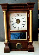 Vintage Seth Thomas Small Single Door Shelf Clock Rosewood -Very Nice