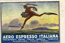 1926 Aero Espresso Italiana - cartolina da Brindisi con rara affrancatura aerea