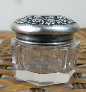 STUNNING DOMINiCK & HAFF 1890-1920S STERLING SILVER ORNATE DRESSER JAR