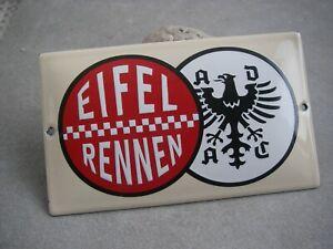 Kleines ADAC EIFELRENNEN EMAILSCHILD Schild Emaille Emailleschild wall sign