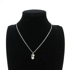 """Silver Alloy I love Volleyball Pendant Short Chain Collar Necklace 18"""" Sports"""