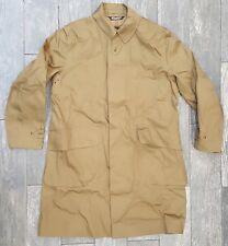 RRL Ralph Lauren Mens Trench Coat Water Proof Jacket SIZE LARGE TRENT OLIVE