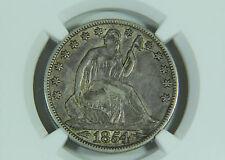 1854 O Seated Liberty Half Dollar NGC XF 45 Premium Quality