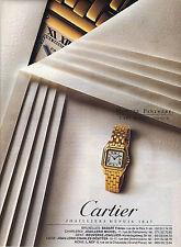 PUBLICITE ADVERTISING  1993   CARTIER  montre PANTHERE