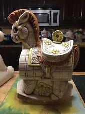 Vintage Treasure Craft Rocking Horse Cookie Jar