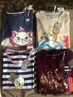 Ladies Disney Characters Pyjamas Nightdress T Shirt Women's Nightshirt Primark