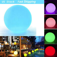 New listing 8-Inch Light Ball Cordless NightRemote Control Rechargeable Pool Led Light Ball