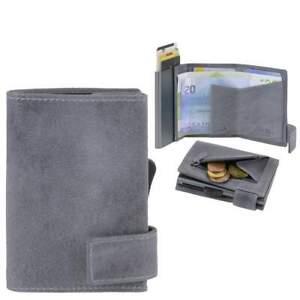 Secwal Kreditkartenetui SW1 Geldbörse Kartenetui Leder Vintage grau Minibörse