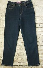 Gloria Vanderbilt Jeans Amanda Dark Denim Jean Pants Size 6 Women's