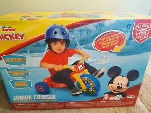 Disney Junior Mickey Mouse Cruiser Ride On Bike 3 Wheel With Sound Effects Jakks
