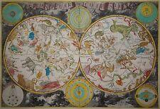 Planisphaerium coeleste-De Wit/c&m 1721-EXTREMELY RARE, Large Star Chart