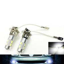 2X H3 5630 SMD 10 LED Bulbs XENON White 6000K Car Fog Head Light Lamp 12V