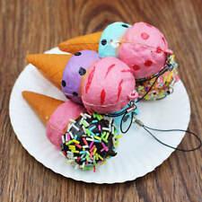 10cm gelato Bulk LENTO Squishy Morbido Cellulare Cinghie Portachiavi giocattolo