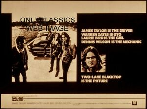 TWO LANE BLACKTOP 11X14 POSTER CHEVY HOT ROD JAMES TAYLOR DENNIS WILSON OATES