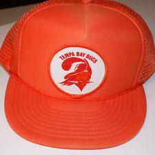 Tampa Bay Bucs Hat Vintage Snapback Front Patch Mesh Orange Nissin Buccaneers