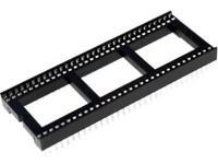 2x ICVT-64P-S Sockel DIP PIN 64 19,05mm THT Rastermaß 1,778mm DS1010-64T1WS