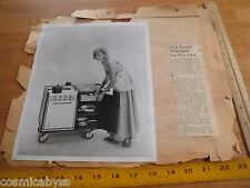 1963 Party Princess portable stove boating camping advertising photo w/articles